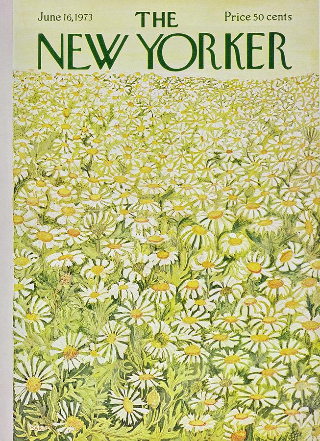 New Yorker June 16th 1973 Painting by Ilonka Karasz