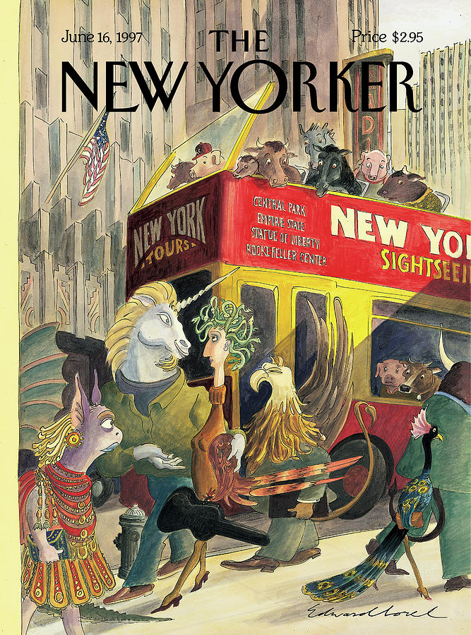 New Yorker June 16th, 1997 Painting by Edward Sorel