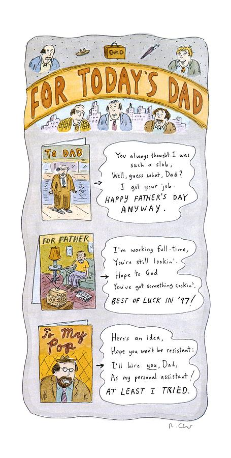 New Yorker June 16th, 1997 Drawing by Roz Chast