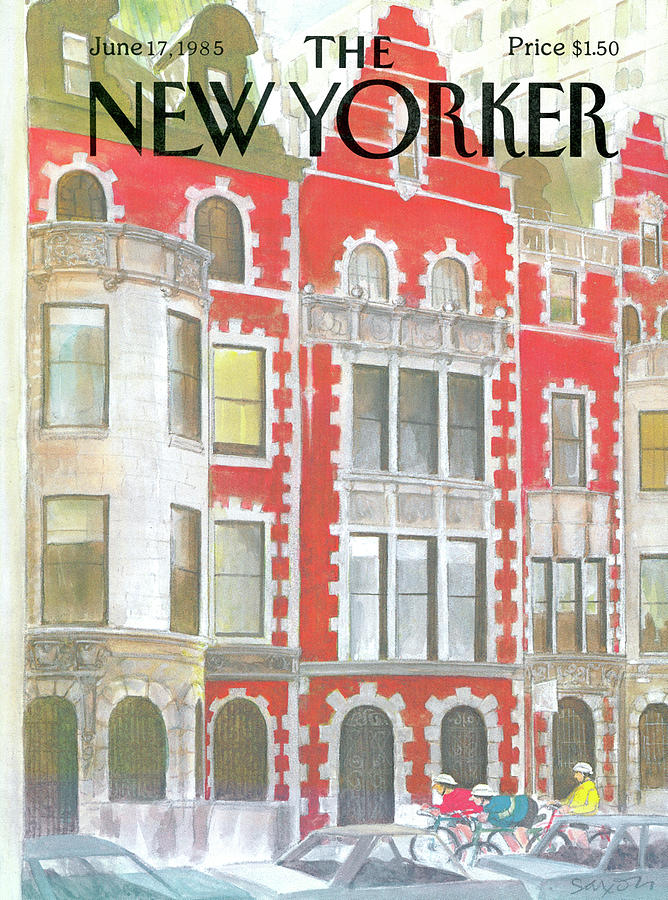 New Yorker June 17th, 1985 Painting by Charles Saxon