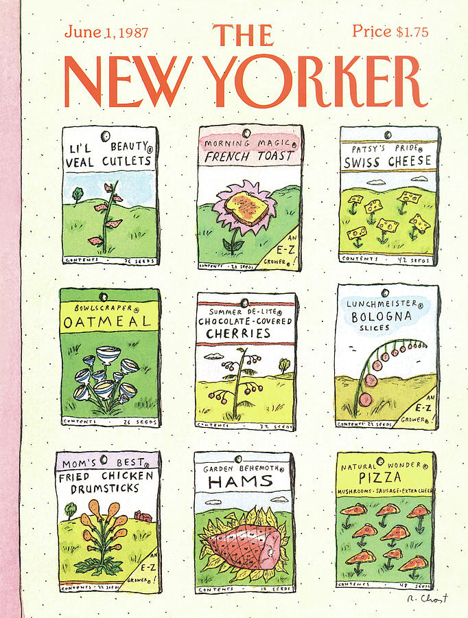 New Yorker June 1st, 1987 Painting by Roz Chast