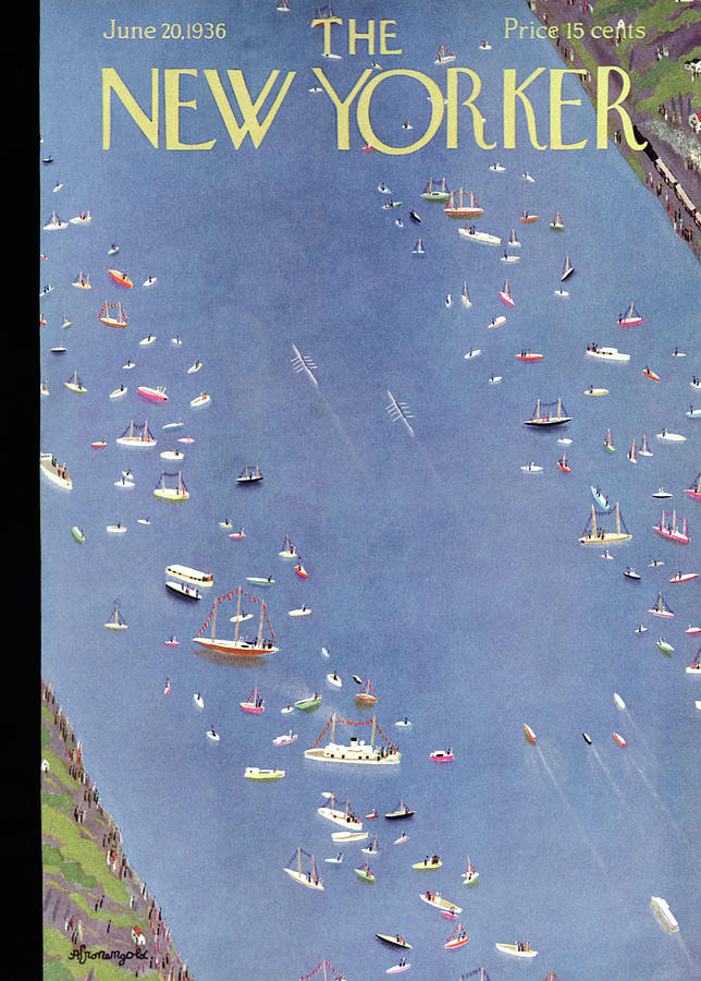 New Yorker June 20, 1936 Painting by Adolph K Kronengold