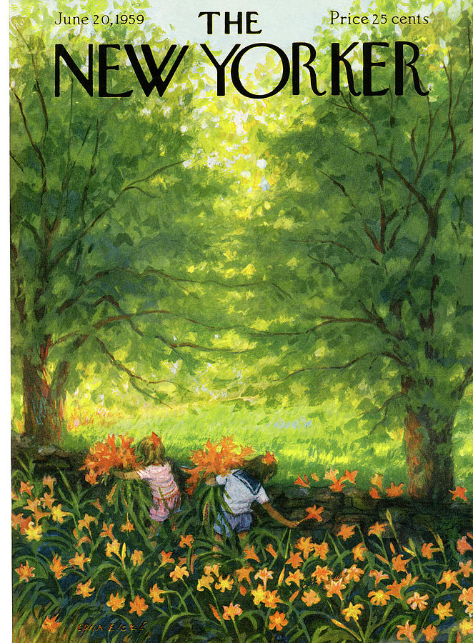 New Yorker June 20th, 1959 Painting by Edna Eicke