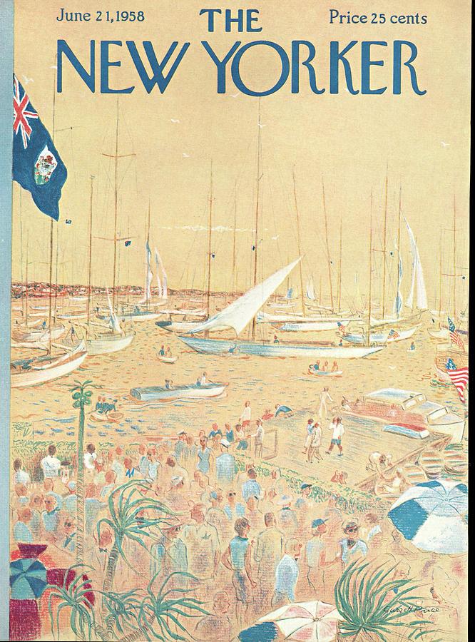New Yorker June 21st, 1958 Painting by Garrett Price