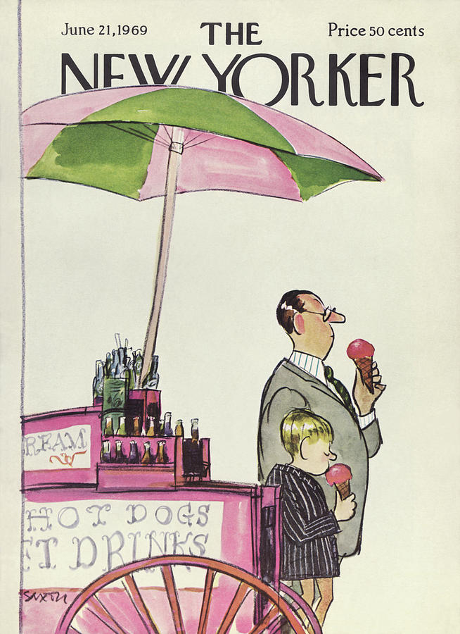 New Yorker June 21st, 1969 Painting by Charles Saxon