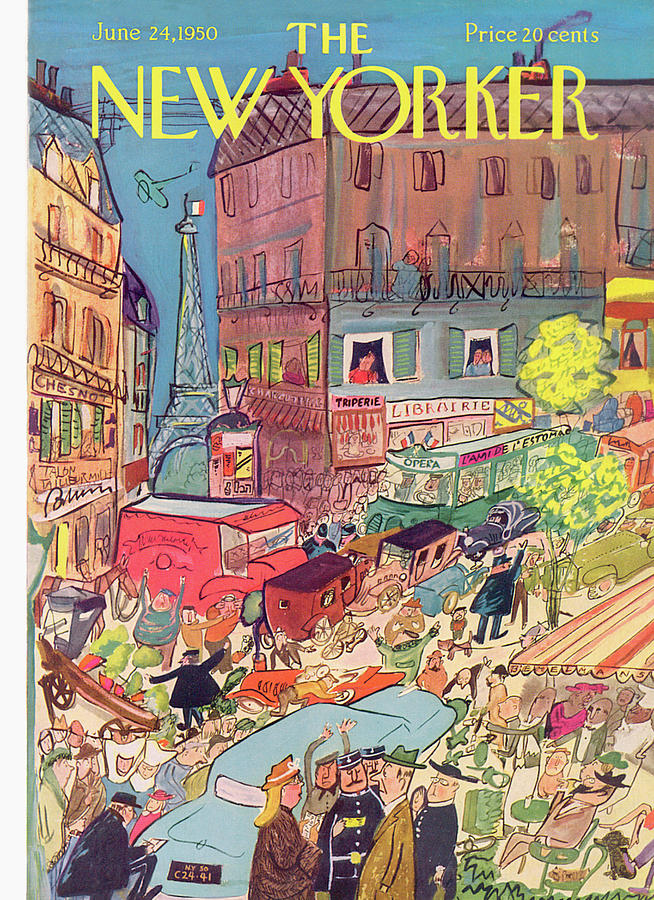 New Yorker June 24th, 1950 Painting by Ludwig Bemelmans