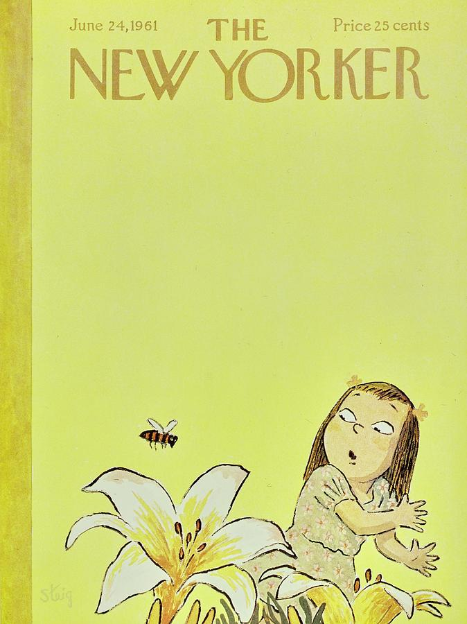 New Yorker June 24th 1961 Painting by William Steig