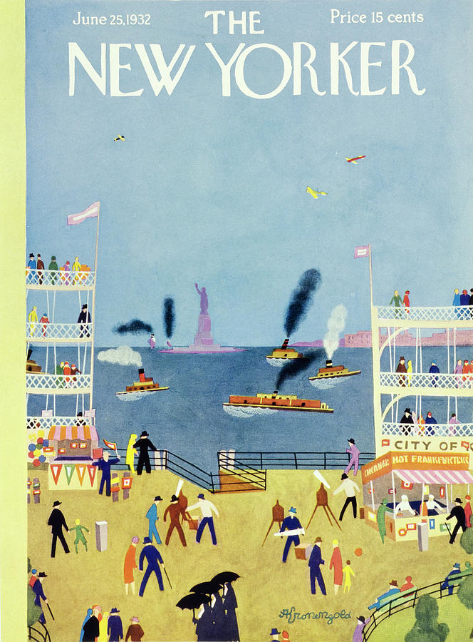 New Yorker June 25 1932 Painting by Arthur K Kronengold