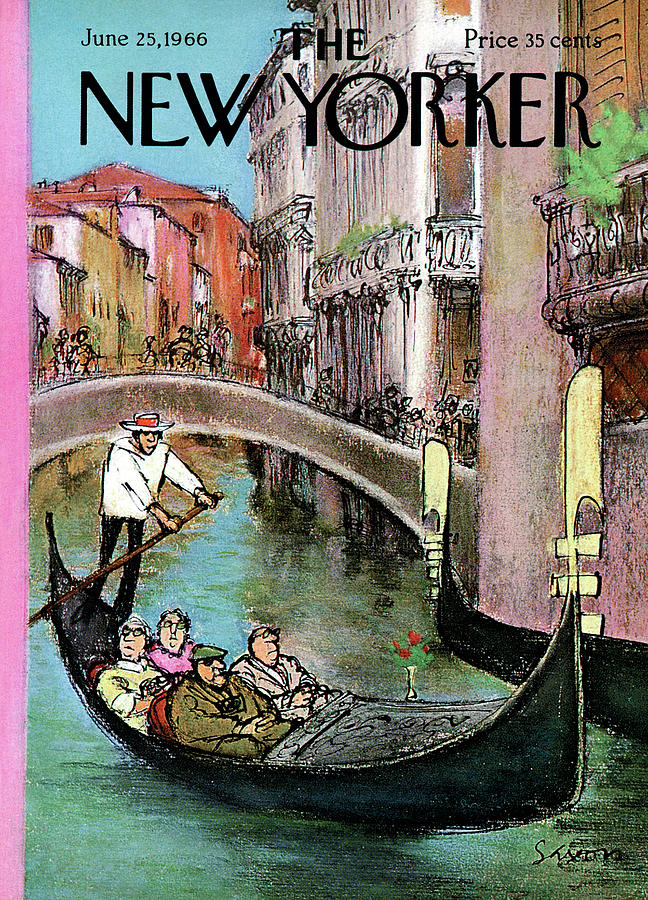 New Yorker June 25th, 1966 Painting by Charles Saxon
