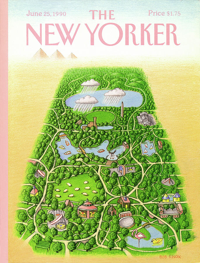 New Yorker June 25th, 1990 Painting by Bob Knox