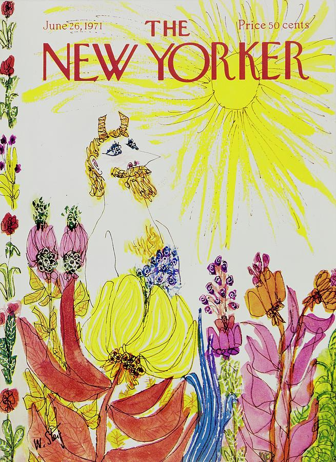 New Yorker June 26th 1971 Painting by William Steig