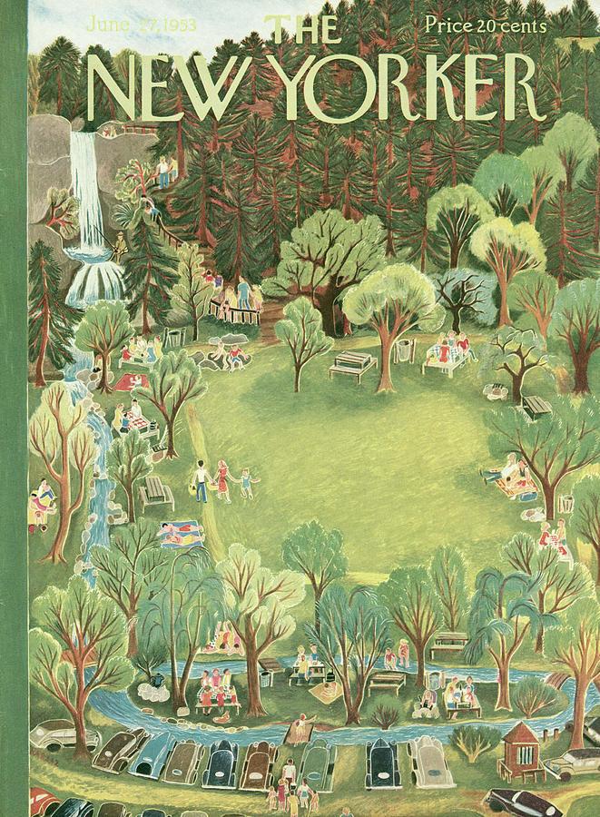 New Yorker June 27th, 1953 Painting by Ilonka Karasz