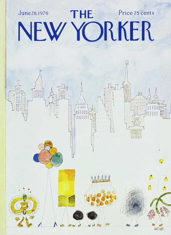 New Yorker June 28th 1976 Painting by Robert Weber