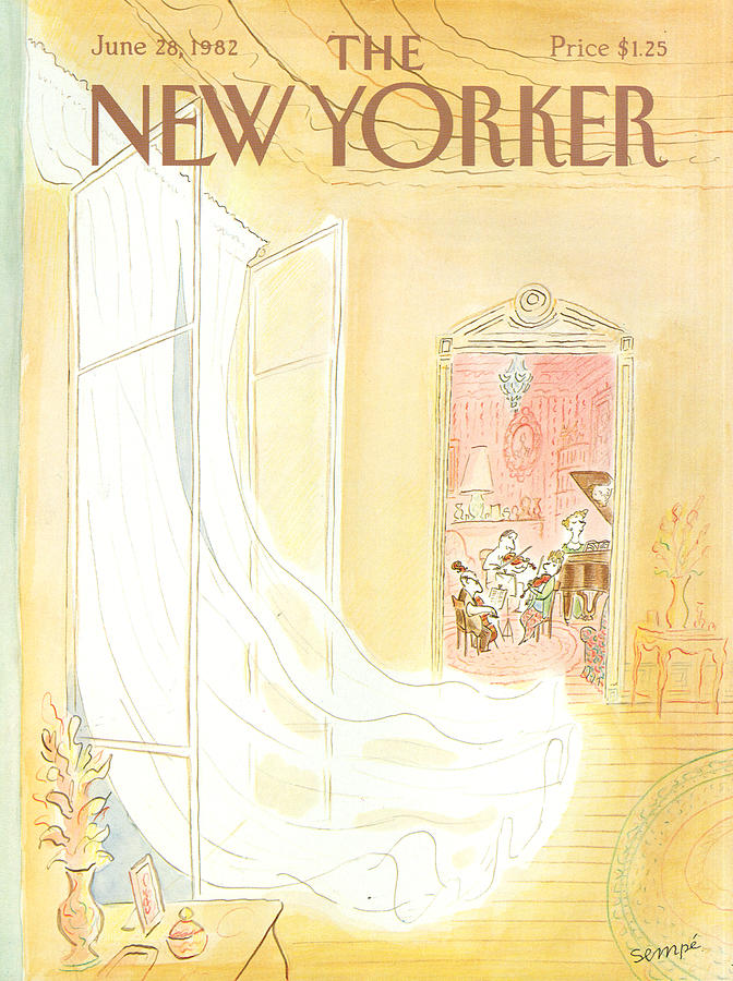New Yorker June 28th, 1982 Painting by Jean-Jacques Sempe