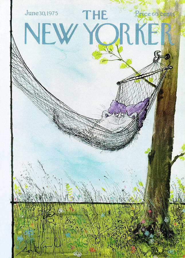 New Yorker June 30th, 1975 Painting by Ronald Searle