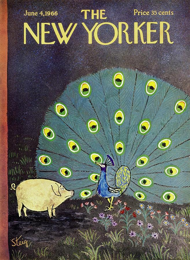 New Yorker June 4th 1966 Painting by William Steig