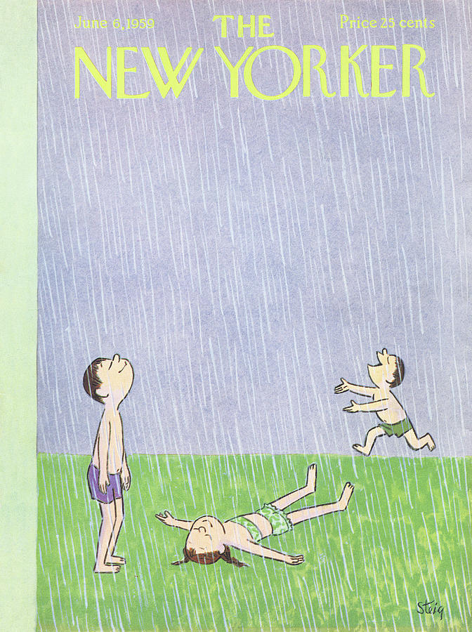 New Yorker June 6th, 1959 Painting by William Steig