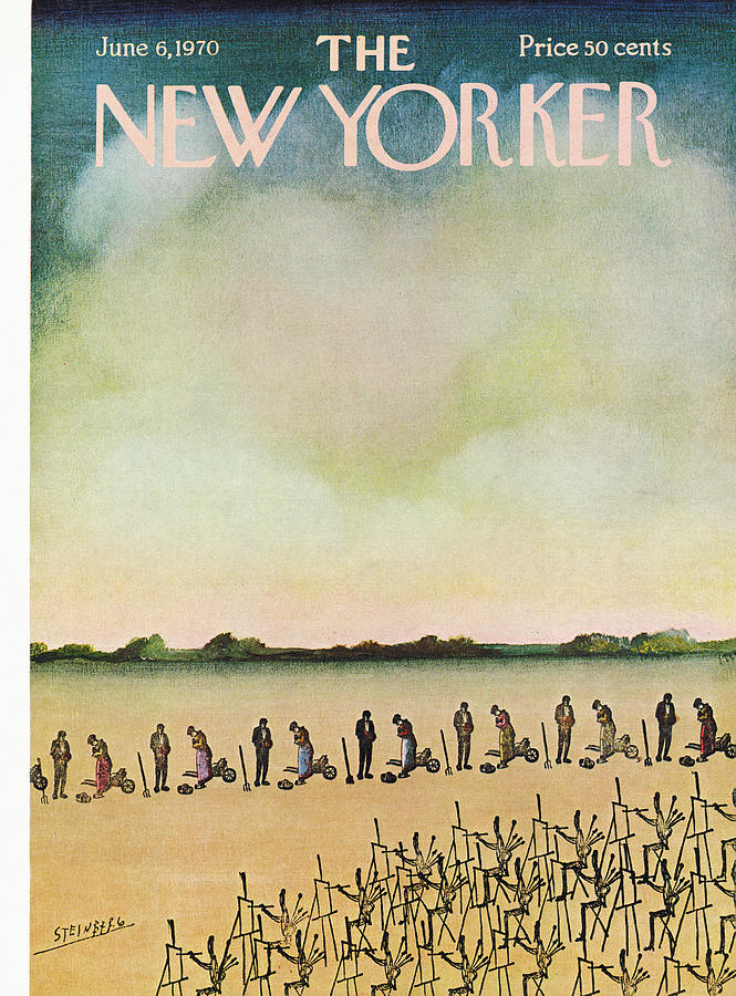 New Yorker June 6th, 1970 Painting by Saul Steinberg