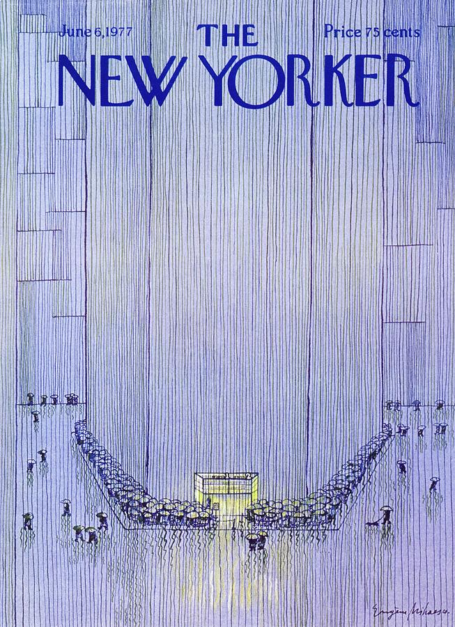 New Yorker June 6th 1977 Painting by Eugene Mihaesco