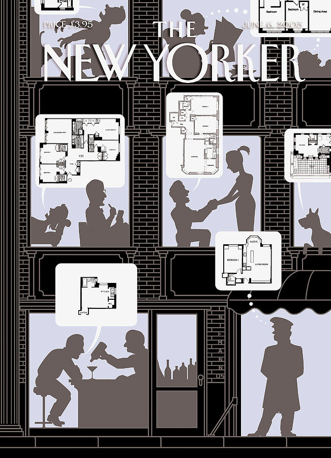 New Yorker June 6th, 2005 Painting by Christoph Niemann