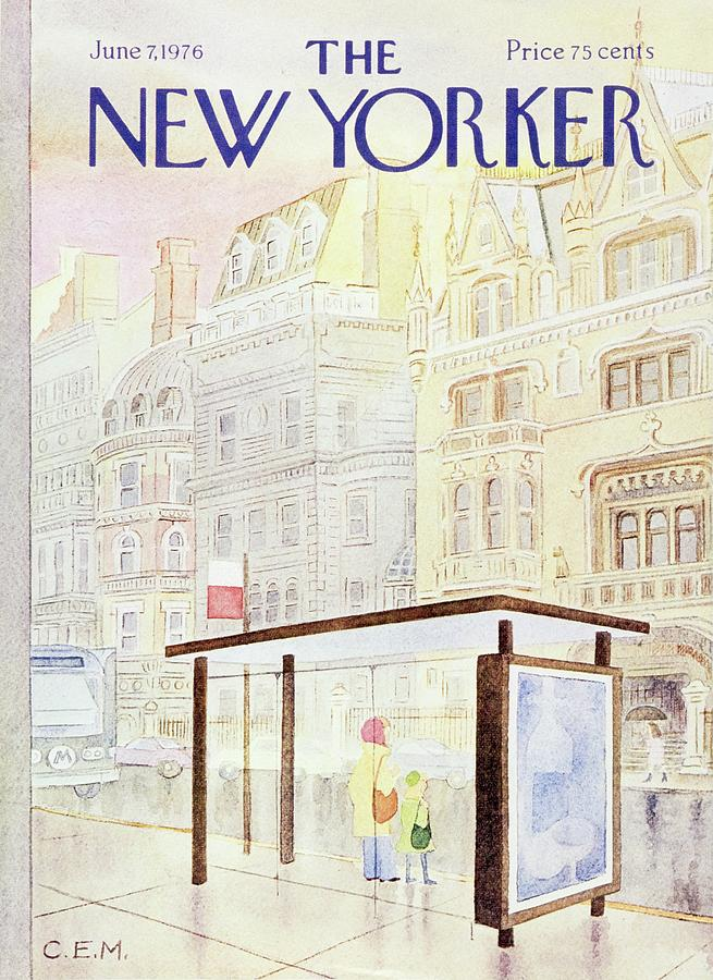 Illustration Painting - New Yorker June 7th 1976 by Charles E Martin