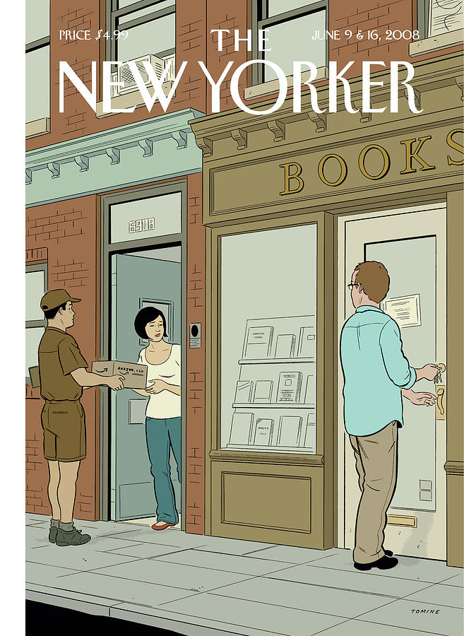 New Yorker June 9th, 2008 Painting by Adrian Tomine