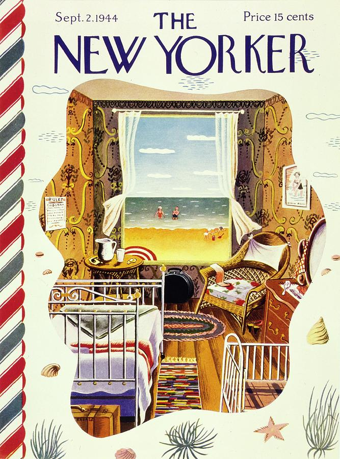 New Yorker Magazine Cover Of A Bedroom By The Sea Painting by Ilonka Karasz