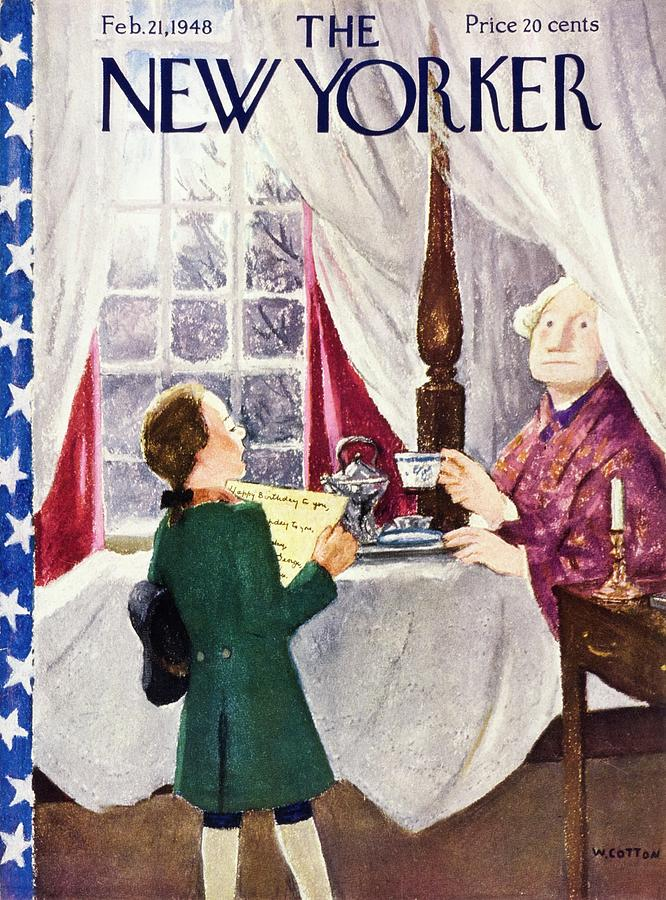 New Yorker February 21 1948 Painting by William Cotton