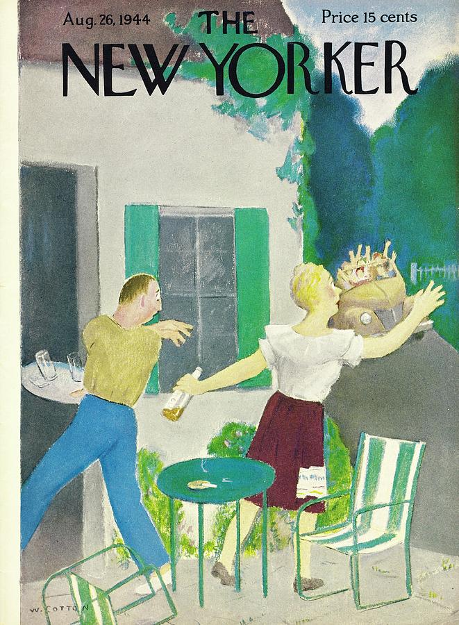 New Yorker August 26, 1944 Painting by William Cotton