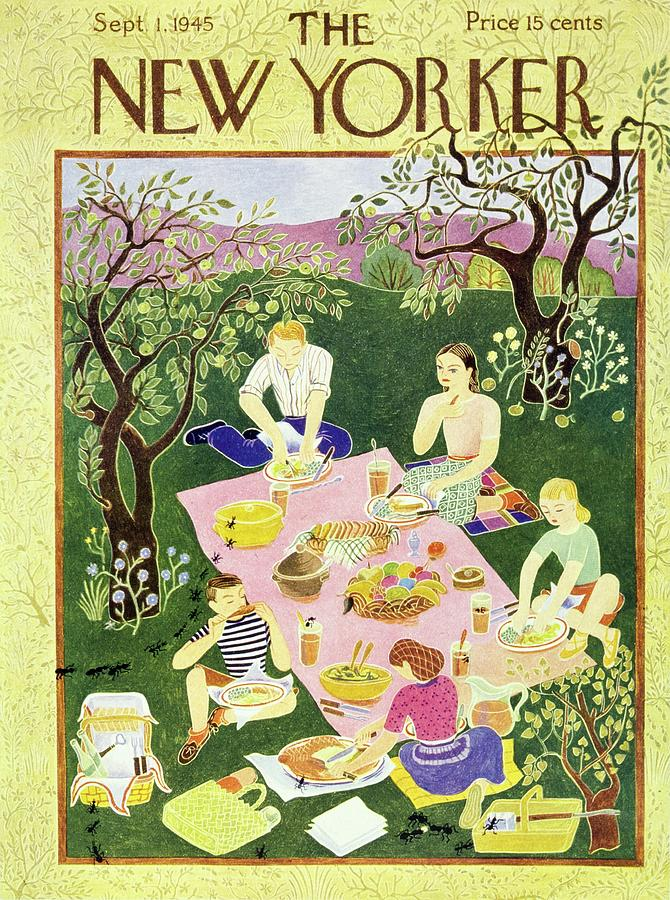 New Yorker September 1 1945 Painting by Ilonka Karasz