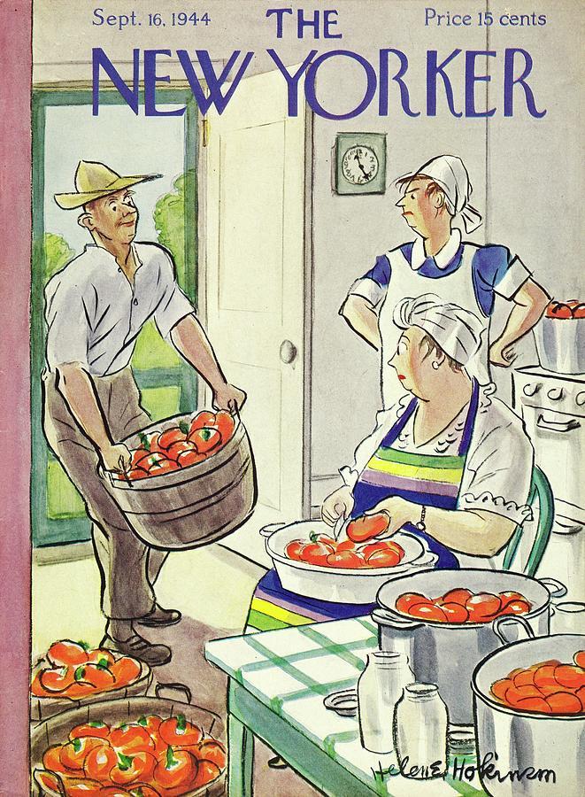 New Yorker September 16, 1944 Painting by Helene E Hokinson