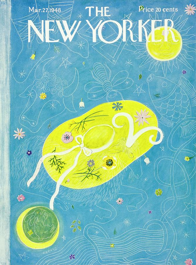New Yorker March 27, 1948 Painting by Ilonka Karasz