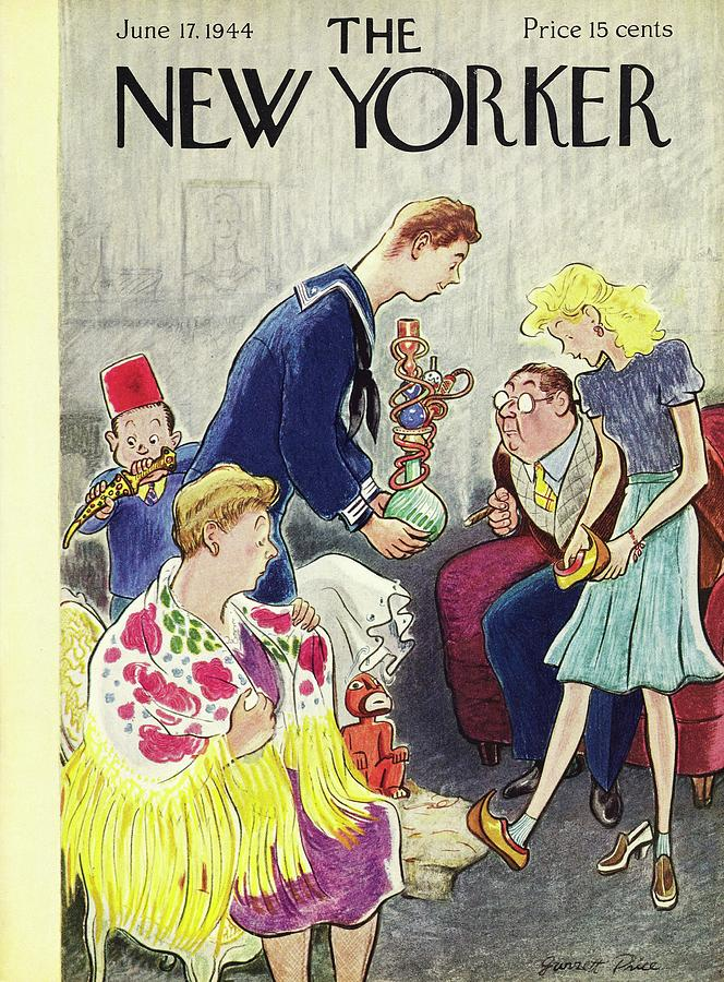 New Yorker June 17, 1944 Painting by Garrett Price