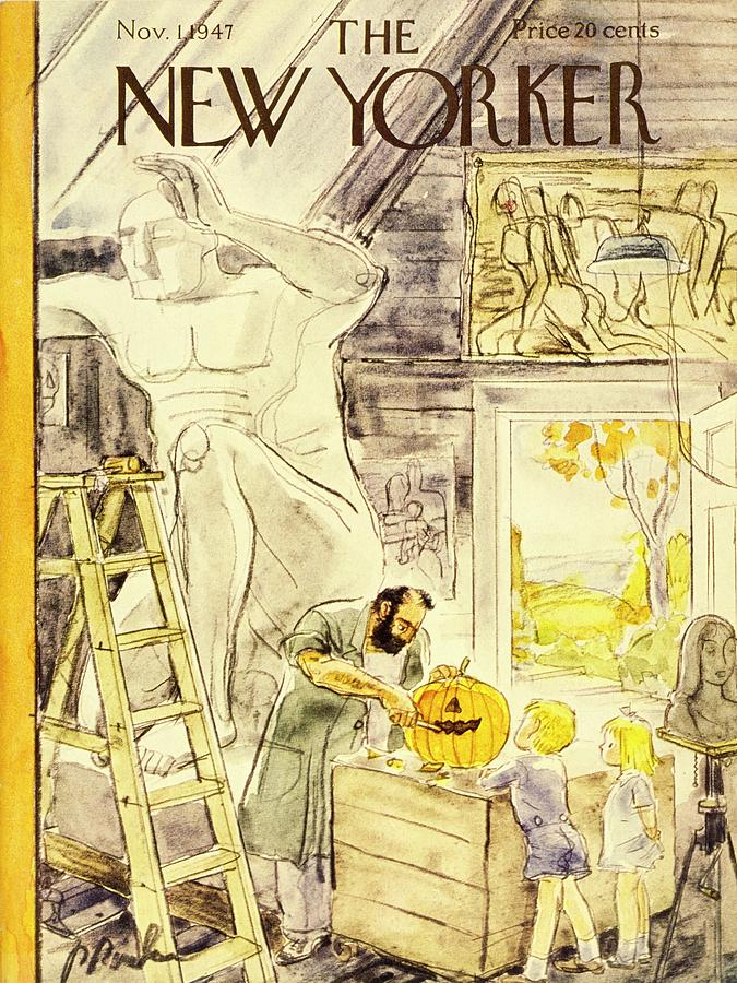 New Yorker November 1, 1947 Painting by Perry Barlow