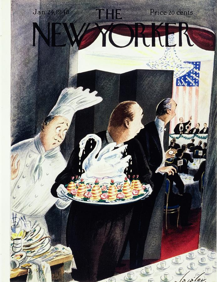 New Yorker January 24, 1948 Painting by Constantin Alajalov
