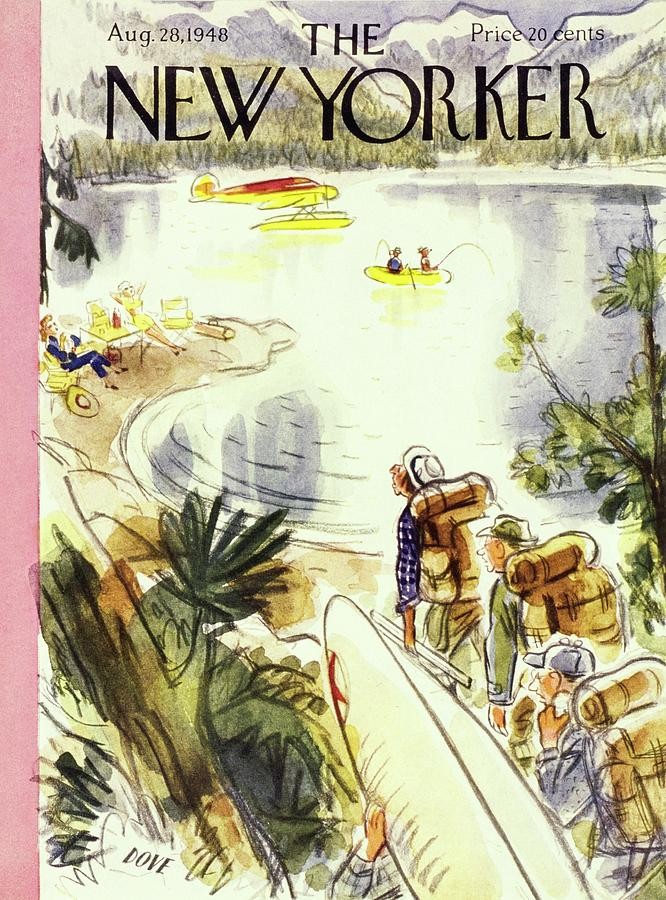 New Yorker August 28, 1948 Painting by Leonard Dove