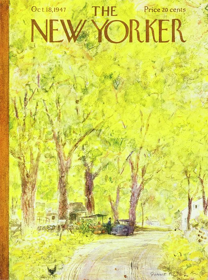 Fall Painting - New Yorker October 18, 1947 by Garrett Price