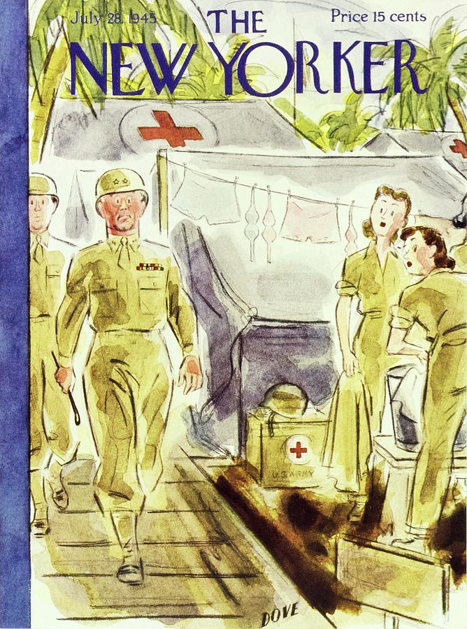 New Yorker July 28 1945 Painting by Leonard Dove
