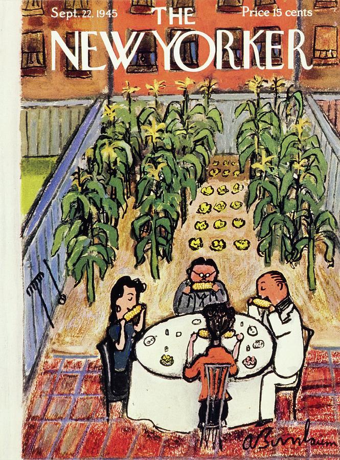 New Yorker September 22 1945 Painting by Aaron Birnbaum