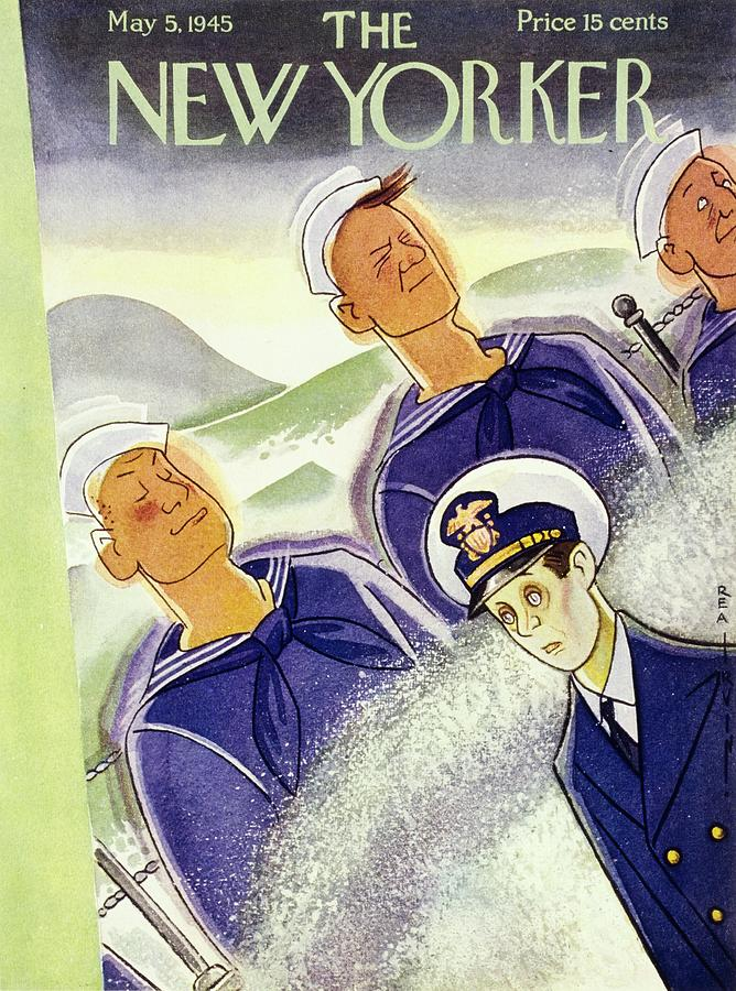 New Yorker May 5 1945 Painting by Rea Irvin