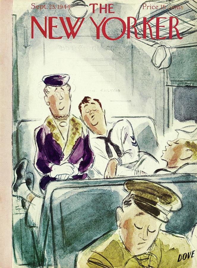 New Yorker September 23, 1944 Painting by Leonard Dove