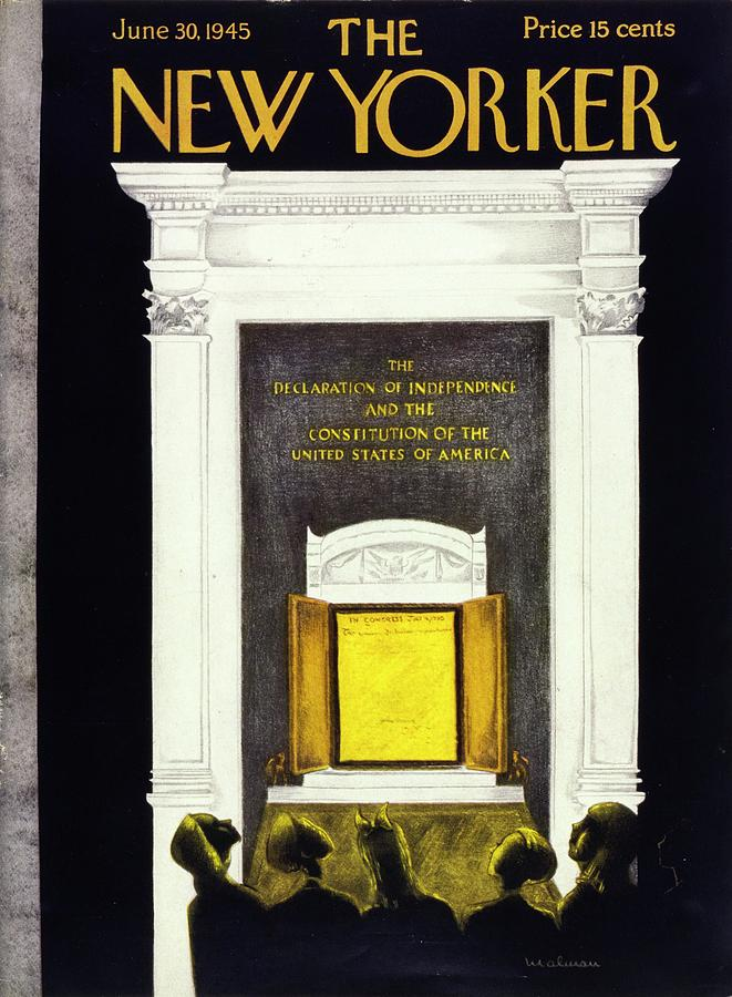 New Yorker Magazine Cover Of The Declaration Painting by Christina Malman