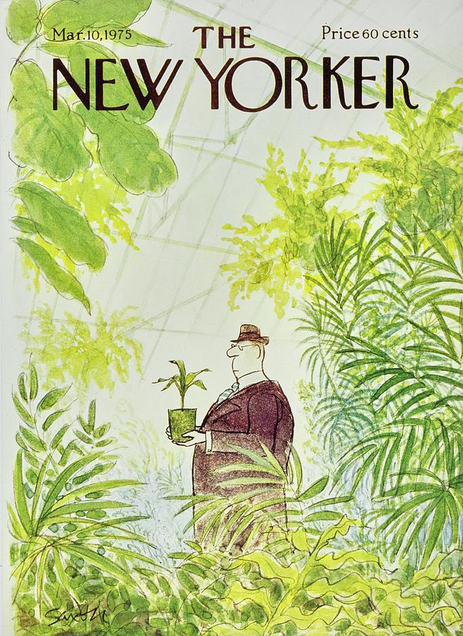 New Yorker March 10th 1975 Painting by Charles D Saxon