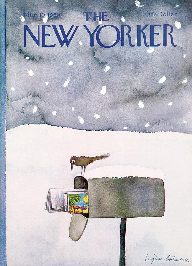 New Yorker March 10th, 1980 Painting by Eugene Mihaesco