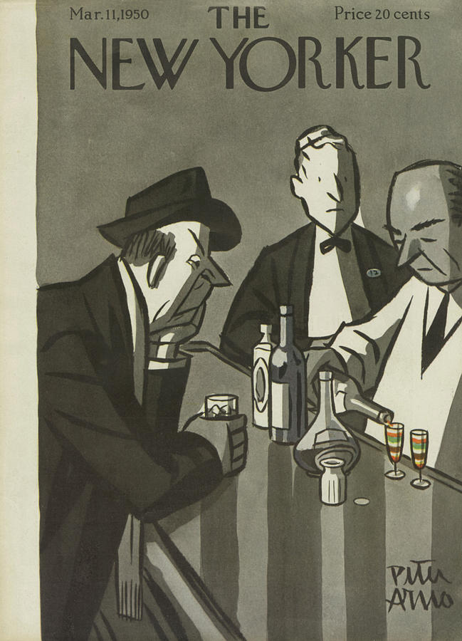 New Yorker March 11th, 1950 Painting by Peter Arno