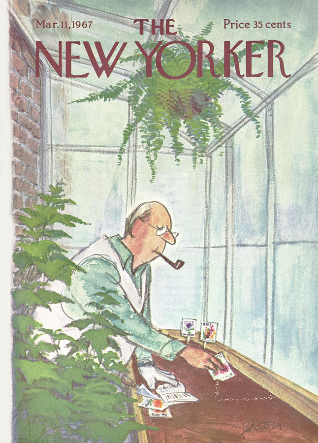 New Yorker March 11th, 1967 Painting by Charles Saxon