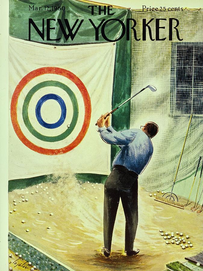 New Yorker March 12th 1960 Painting by Constantin Alajalov