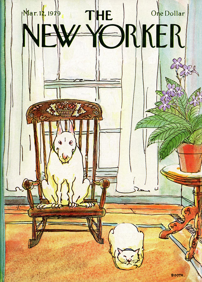 New Yorker March 12th, 1979 Painting by George Booth