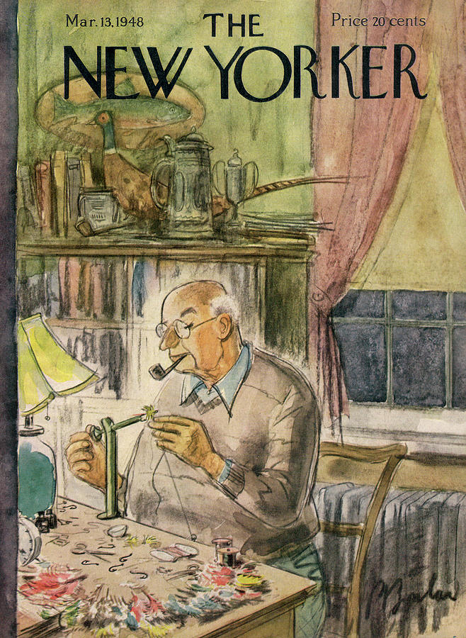 New Yorker March 13th, 1948 Painting by Perry Barlow