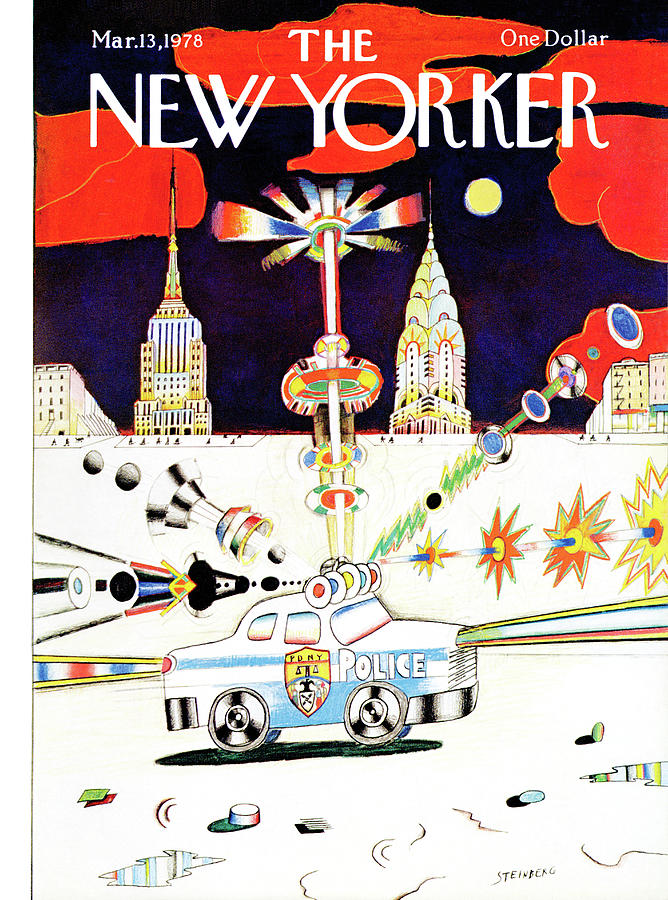 New Yorker March 13th, 1978 Painting by Saul Steinberg